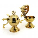 Brass Charcoal Burner with Pentacle 641-2 pcs