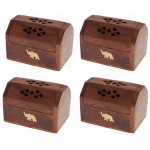 Ash Box Cones 3x2in Brass Inlay - ASH005-4 Pcs