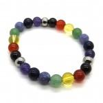 Chakra Ball Bracelet with Silver Colour Ball