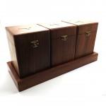 Rosewood Box 3 Pcs Set With Tray - 1 Pcs  Large