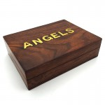 Angels Card Box Brass Inlay 6 x 5in (1 Pc)- 5670