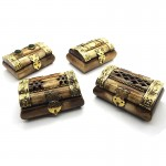 Mini Bejewelled Bone Box (4 Pcs)