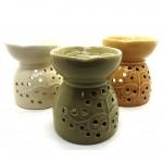 Ceramic Burner with Flower OB7 - 1 Pc