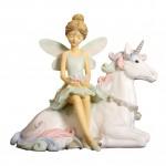 Ballerina Fairy Sitting on Unicorn 32728-1 pc