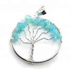 Tree of Life Pendant Apatite Silver Plated