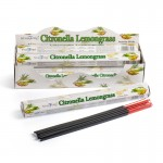 Citronella & Lemongrass Incense Hex (6 TBS) Stamford