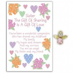 Angel Song Pins - Sister The Gift of Sharing (6 Pcs) AS008