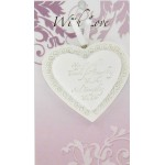 LHA White Heart - Love Amor (6 Pcs)