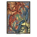 Fighting Dragons Greeting Card
