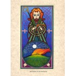 St Patrick and the Paschal Fire Greeting Card