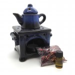 Oil Burner with Pot Potpourri Oil & Candle 10 x 16cm -1