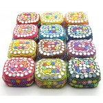 Square Trinklet Box Beaded (12 pcs)