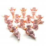 Pretty In Pink Cherub Holding Heart 12 Pcs