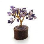 Amethyst Gem Tree on Wooden Base