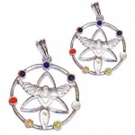 2 For 1 Price - Chakra Angel Silver Plated Pendant SP Chain
