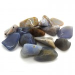 Chalcedony Blue Tumbled Stone 20-30mm (100g)