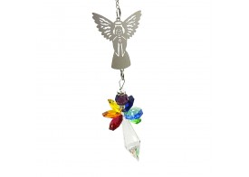 Hanging Rainbow Crystal Angels