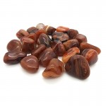 Agate Red Banded Tumbled Stone 20-30mm (500g)