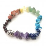 Chakra 52mm Chip Bracelet with Buddha Head