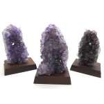 Amethyst on Wooden Base