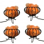 Salt Lamp Basket with Chunks 6in 4 ( Pcs ) Special