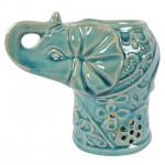Turquoise Elephant Oil Burner Large 76116-1