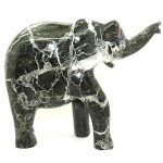 Elephant Black Zebra Granite 10in