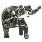Elephant Black Zebra Granite 10in