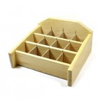 Wood Display 9in x 9.5in (12 x2in compartments)