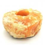 Calcite Orange Tea Light Holder