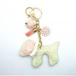 Love Jewellery Keyrings - White Dog (1 Pc) LIK005