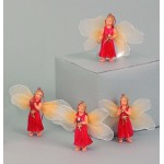 Angel Red Hanging Fabric Wings 7867-24