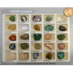 Gem Stones Box Set of 25 Mini Size Stones