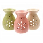 Ceramic Oil Burner Crackle Style 2185-1 Pc