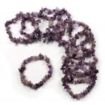 Amethyst 7.5in Chip Bracelet
