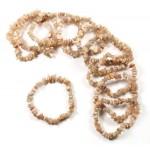 Moonstone Pink 7.5in Chip Bracelet