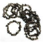 Smokey Quartz 7.5in Chip Bracelet