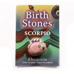 Birthstone Scorpio (Rhodonite)