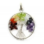 Tree of Life Pendant Chakra Silver Plated