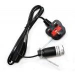 Lamp Lead with Rocker Switch - Black