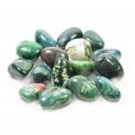 Moss Agate Tumbled Stone 20-30mm (500g)