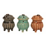 Ceramic Oil Burner with Lid H 13cm 2186-1