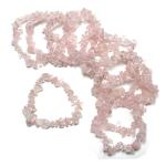 Rose Quartz 7.5in Chip Bracelet