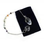 Clear Facet Grape Chakra Pendulum/Bracelet