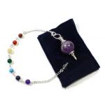 Amethyst Ball Chakra Bracelet