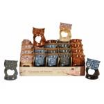 Owl Ceramic Oil Burner on Display 4157-20