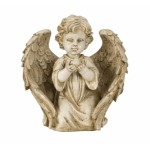 Angel kneeling with Bird Antique 7404-1 Pcs