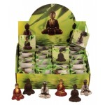 Buddhas in bags in a display 8761-24
