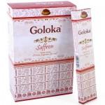 Saffron Incense 15g (12pk) Goloka