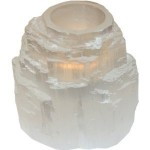 Selenite Mountain Tealights 8cm x 8cm